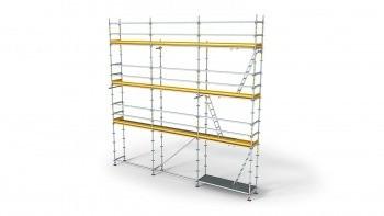 Peri Up Fassadengerüst in Modulbauweise zum Erstellen besonders tragfähiger und flexibel anpassbarer Arbeitsgerüste.